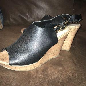 American Eagle Black Wedge Shoes